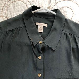 J. Crew short sleeve silk camp shirt